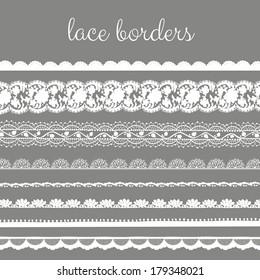 Decorative Delicate Lace Borders