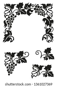 decorative drawing vine leaves