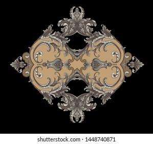 Decorative elegant luxury design.Design for cover, fabric, textile, wrapping paper