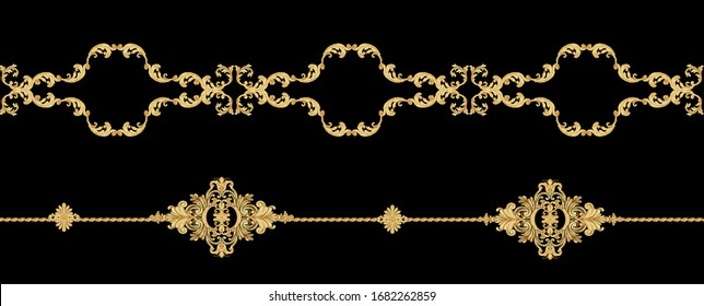 Decorative elegant luxury design.Vintage elements in baroque, rococo style.Design for cover, fabric, textile, wrapping paper