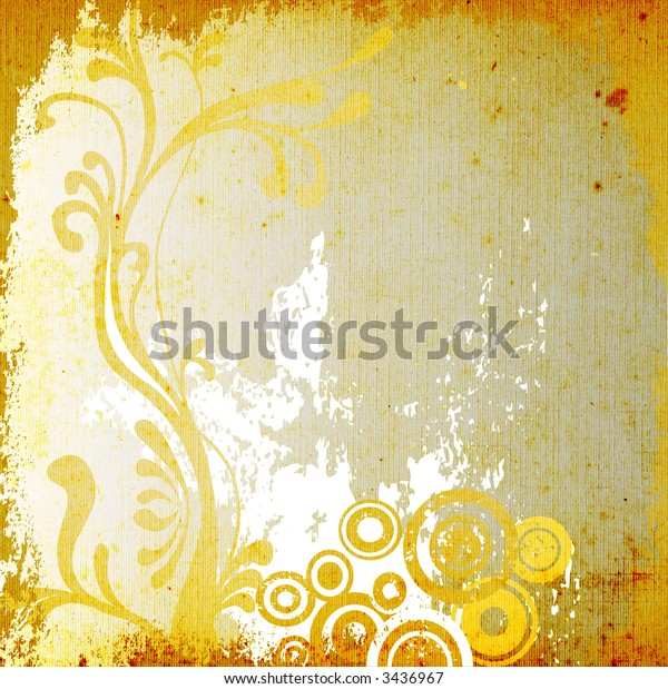 decorative floral background with circles, abstract design