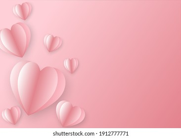Decorative heart-shaped figure with more copy space.