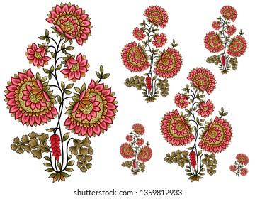 decorative mughal  flower motif bunch