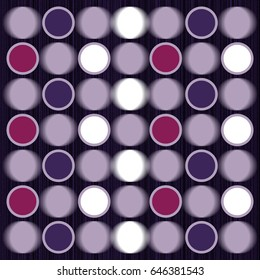 Decorative pattern with glowing cells