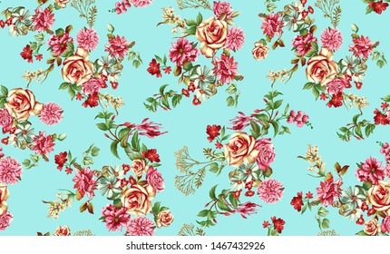 Decorative rama background with colorful flower