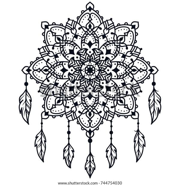 Decorative Round Ornaments Mandalas Coloring Book ...