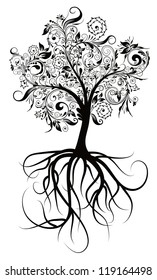 Decorative tree & roots