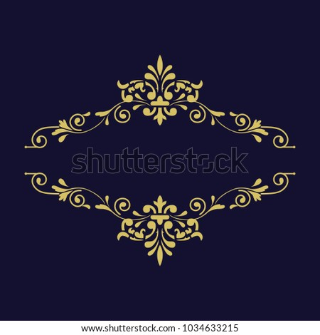 79d77ad48d8a Decorative vintage gold thin dividers. Vintage elements for your design.