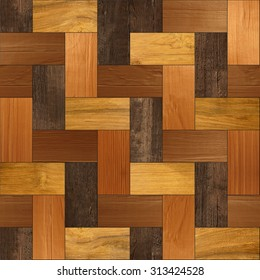 Decorative wooden parquet - Interior wall panel pattern - seamless background - Wood texture - laminate floor - tile pattern - different colors