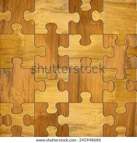Decorative Wooden Puzzle Decorative Pieces Seamless Stock