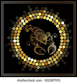 Decorative zodiac sign Cancer. Horoscope and astrology (astronomy)-symbol.