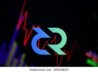 Decred DCR Cryptocurrency. coin growth chart on the exchange, chart