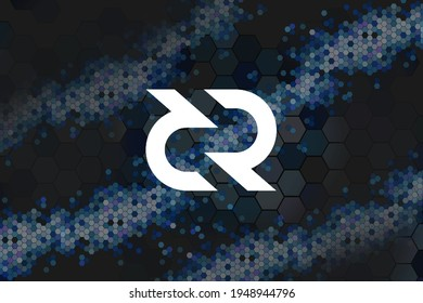 Decred, DCR digital currency with Honeycomb - money and technology worldwide network, Blockchain, Bitcoin is Electronic currency Internet finance