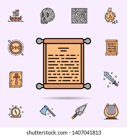 decree, paper, parchment, scroll, pen icon. Universal set of history for website design and development, app development