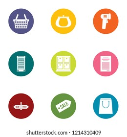 Deduction icons set. Flat set of 9 deduction icons for web isolated on white background