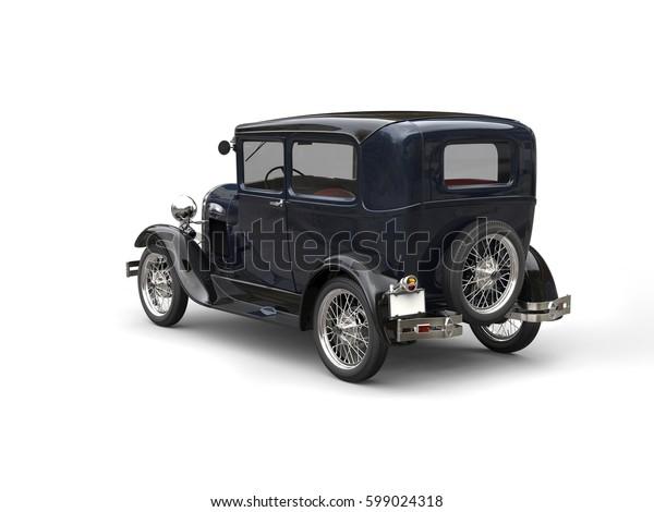 Deep blue awesome vintage 1920s car - 3D Render