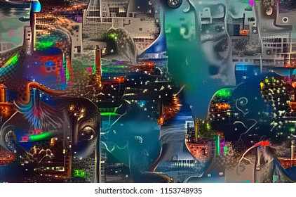 Deep Learning Fractal inspired by Cityscape