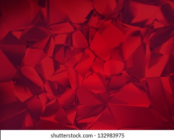 deep red abstract crystal background