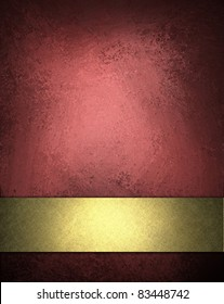 deep red and pink background with soft lighting, dark corners, vintage grunge texture, elegant gold ribbon, and copy space to add your own text, title, or image