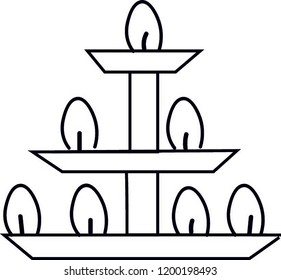 deepam Diwali festival lamps icon on white background.
