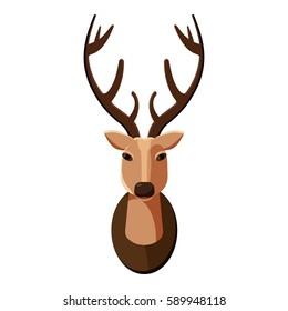 Deer head icon. Cartoon illustration of deer head  icon for web
