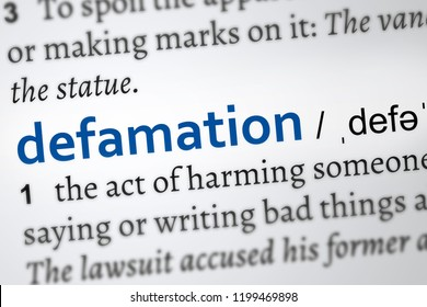 defamation definition word, vocabulary page