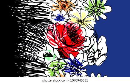 defamation flowers design