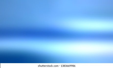 Degrade gradient background with Cornflower blue, United Nations Blue color. Template for advertising and commercials.