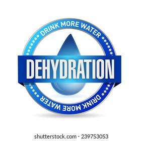 dehydration stamp illustration design over a white background