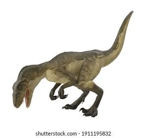 Deinonychus 3D illustration on white background