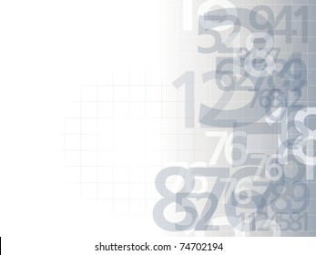 delicate numbers background light illustration