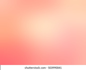 Delicate peach blurred background. Hazy light texture.