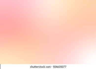 Delicate peach misty background. Light blurred texture.