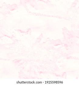 Delicate Tie Dye Seamless Pattern.  Rose, White Textile Paint Motifs. Beige, Pink Mottled Pattern. Liquid Artistic Painting. Vintage Doodle Drawing.