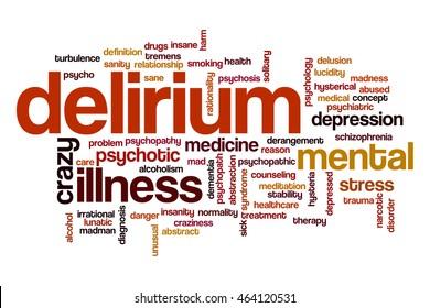 Delirium word cloud
