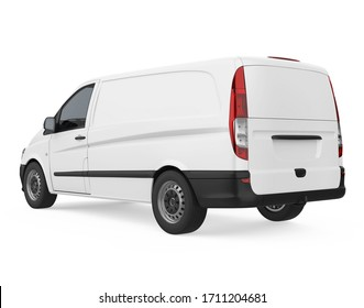 Delivery Van Isolated. 3D rendering
