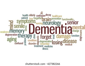 Dementia Word Cloud Images, Stock Photos & Vectors