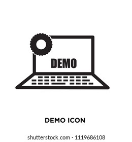 demo icon, isolated on white background, flat illustration can be used for web, mobile and print