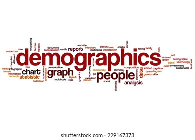 Demographics word cloud concept