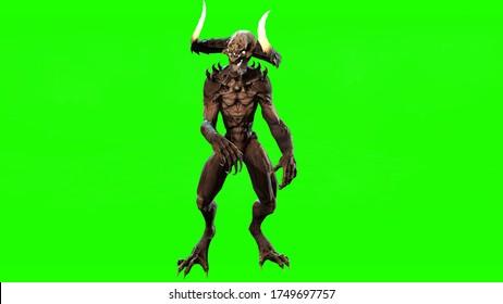 Demon mythical monster 3d render