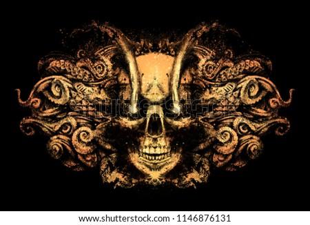 demon skull sparkling eyes stock illustration 1146876131 shutterstock
