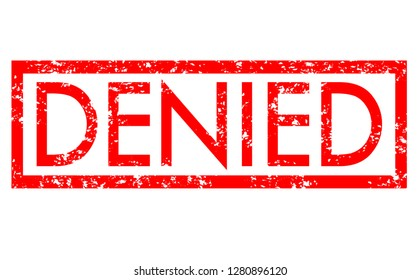 denied stamp red rubber stamp on white background. denied stamp sign. denied stamp.