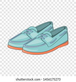Denim loafers icon in cartoon style isolated on background for any web design
