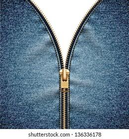 Denim texture with open zipper - raster version