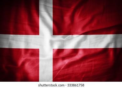 Denmark flag on grunge fabric