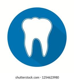 Dent icon. Tooth logotype. Dental office logo