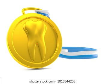 Dental award isolated on white background. 3d illustration