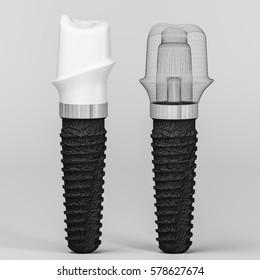dental care 3d rendering