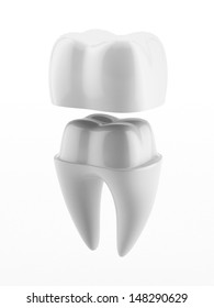 Dental crown and tooth