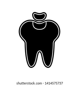 Dental fillings icon. Element of Dantist for mobile concept and web apps icon. Glyph, flat icon for website design and development, app development